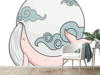 whale in the sky design