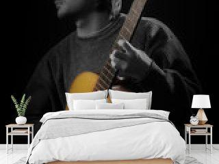Acoustic guitar player. Classical guitarist playing guitar