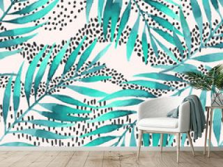 Tropical vector illustration for minimalist print, cover, fabric, scrapbooking wallpaper, birthday card background