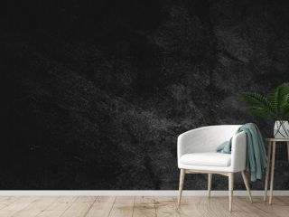 Black wall slate texture rough concrete floor is aged in a retro concept, Texture of a grungy black concrete wall as background