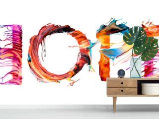 Hope - colorful letter banner illustration
