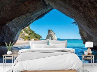 Scenic Cathedral Cove at Coromandel peninsula in New Zealand