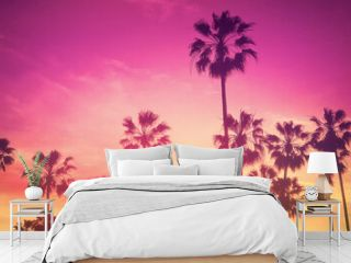 Palm Trees - Summer - Tropical Sunset