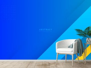 Abstract minimal blue background with geometric creative and minimal gradient concepts, for posters, banners, landing page concept image.