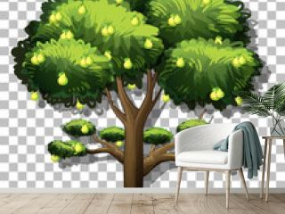Pear tree on transparent background