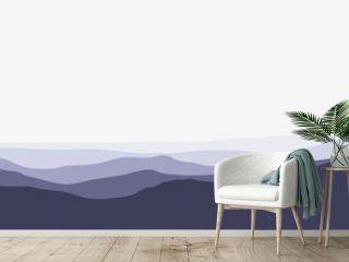 Mountain silhouette layers landscape vector illustration used for background, backdrop, desktop background, minimalist illustration, web banner. Mountain landscape vector illustration.