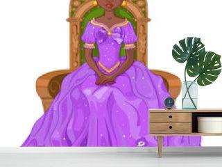 Princess on throne