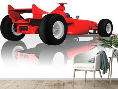 Ferrari F1 from Back - illustration