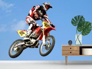 red motocross in the sky
