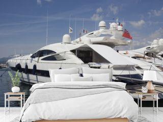 luxury yacht in the port of saint-tropez