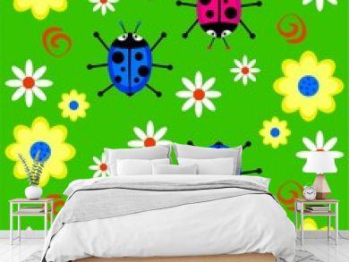 funky ladybug background