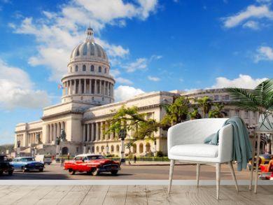 Capitolio building in Havana Cuba