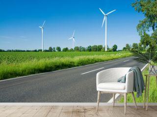Landstraße, Windkraft, Umwelt