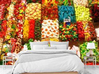 Auslage eines Süßwarenhändlers