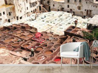 conceria di Fez, Marocco
