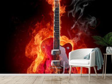 Fire guitar