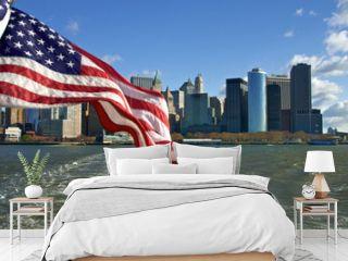 Manhattan and Flag