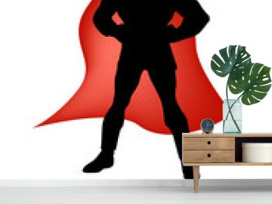 super hero silhouette vector