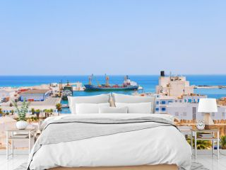 Seaport in Sousse, Tunisia