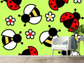 bees and ladybugs
