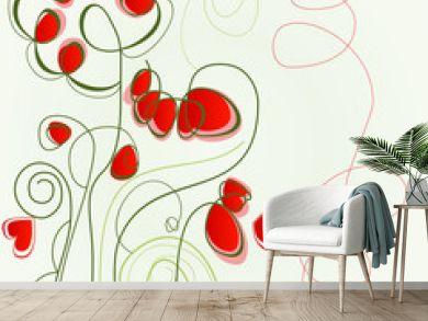 Flower love illustration