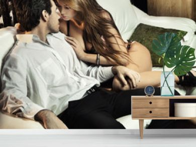 Handsome sexy couple in romantic situation