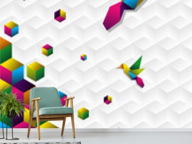Colorful cubes in motion
