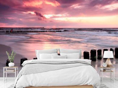 Calmness.Beautiful sunset at Baltic sea.