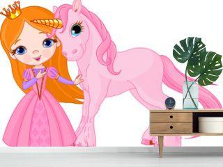 Beautiful princess and unicorn