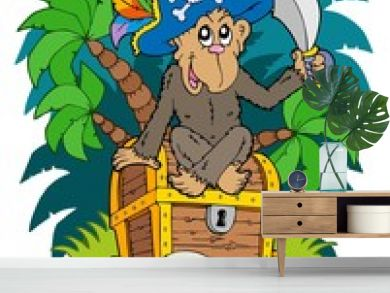 Pirate island with monkey