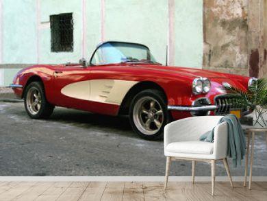 Old sport car in Havana