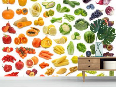 Rainbow collection of fruits and vegetables