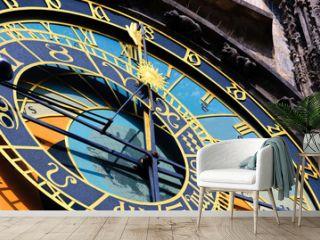 Famous medieval astronomical clock in Prague, Czech Republic