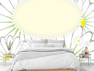 Greeting card with summer motives pattern