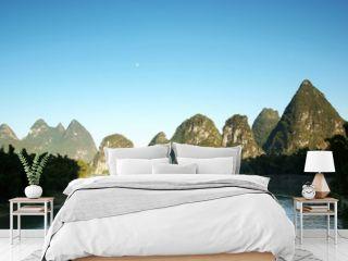 Li river dusk yangshuo china