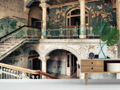 Treppenhaus im alten Krankenhaus