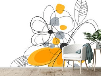 Artistic floral corner