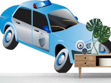 cartoon police vehicle
