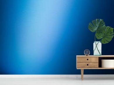 spotlight on blue wall