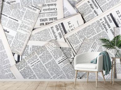 background of old vintage newspapers