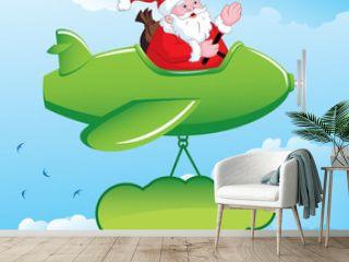 Santa in Aeroplane