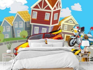 The speeding car - illustration for children