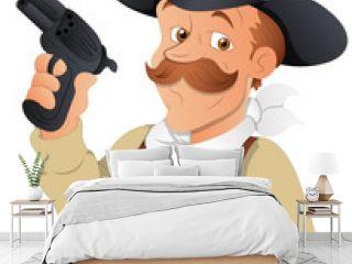 Cowboy - Vector Character Illustration
