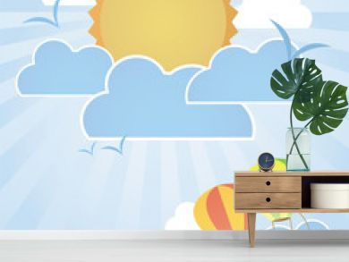 hot air balloons flying on good weather background : day time
