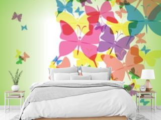 Colorful background with butterfly, EPS10