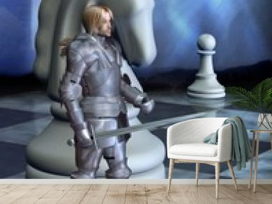 Chess Pieces - the White Knight