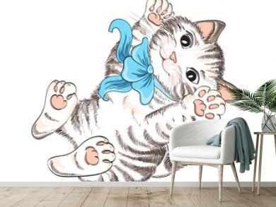 Vector hand drawing kitty
