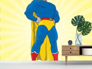 Posing Superhero