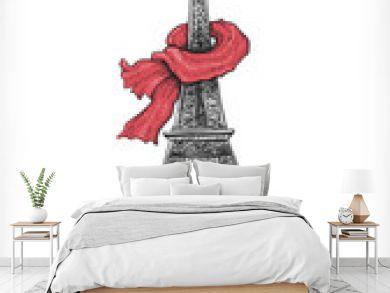 Eiffel Tower, shoes and handbag