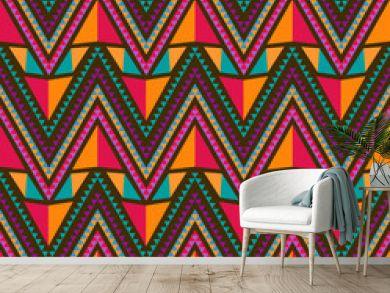 Abstract Ethnic Seamless Geometric Pattern